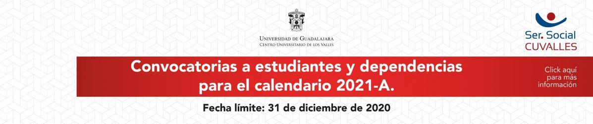 Servicio Social, convocatoria 2021-A