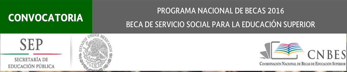 Banner Beca Servicio Social 2016