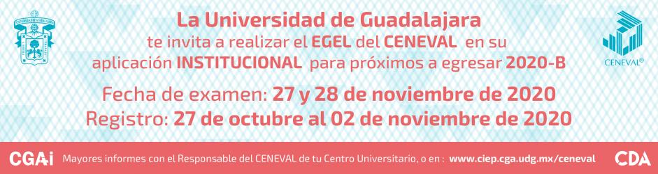 EGEL del CENEVAL 2020, aplicación institucional (27 y 28 de noviembre de 2020)
