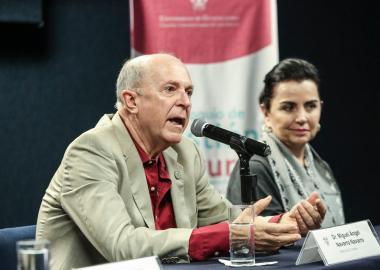 Dr. Miguel Ángel Navarro Navarro, Rector del CUValles en el Coloquio de Gestión Cultural